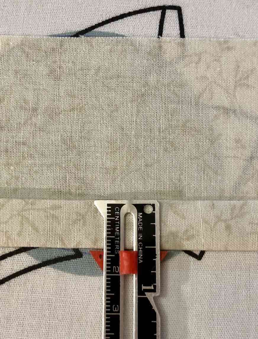 Half inch Fabric Fold