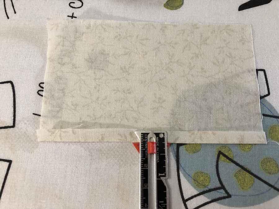 quater inch fold fabric