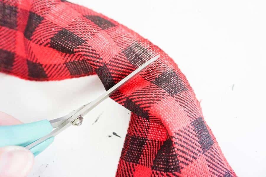Cut Checkered Ribbon