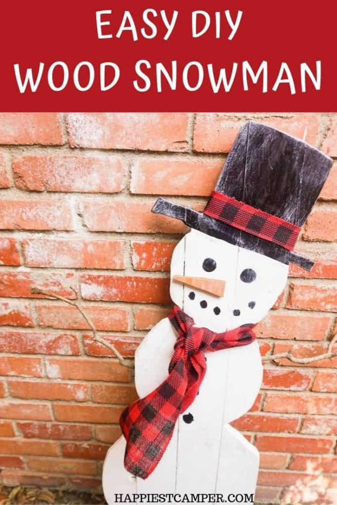 Easy DIY Wood Snowman