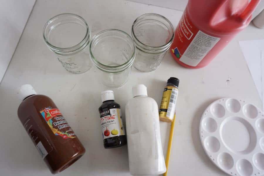 Supplies for Christmas Jars