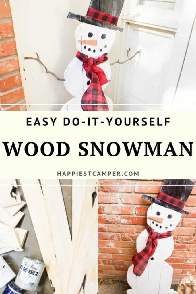 Easy Do It Yourself Wood Snowman