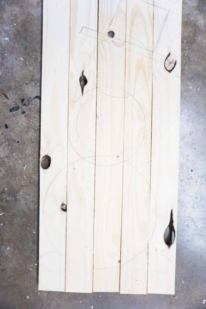 Wood Snowman Outline