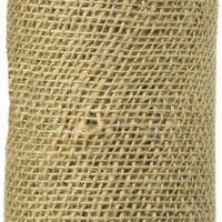 Burlap Ribbon, 6-Inch by 5-Yard, Natural