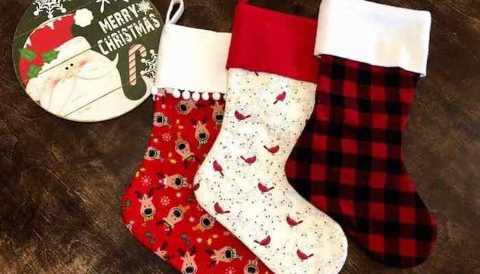 How to Sew a Christmas Stocking With Free Pattern