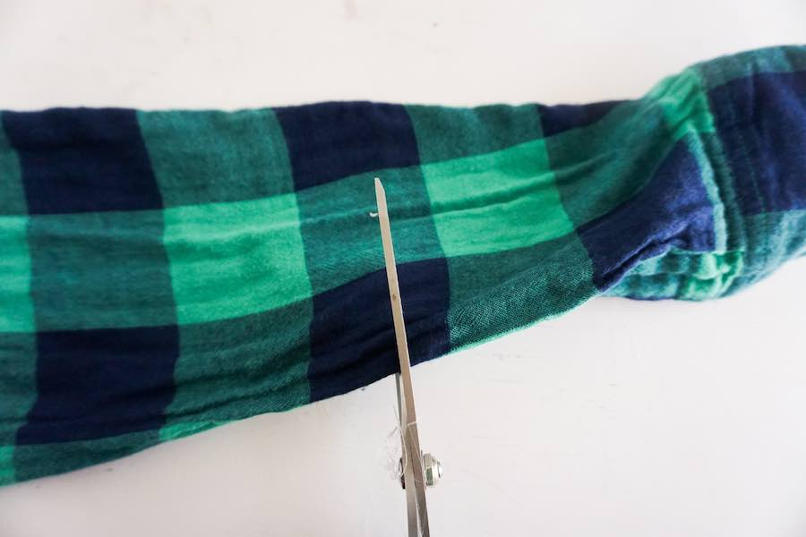 Cut Flannel Sleeve
