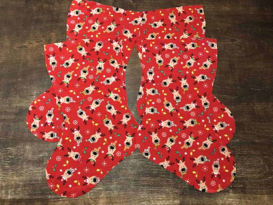 Cut Out Christmas Stocking Fabric