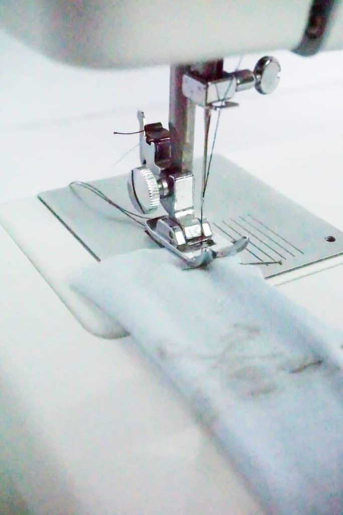 sew pinnned fabric