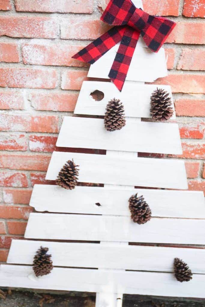 Completed wooden Christmas Tree