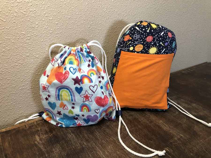 DIY Drawstring Backpack with Pocket and without pocket