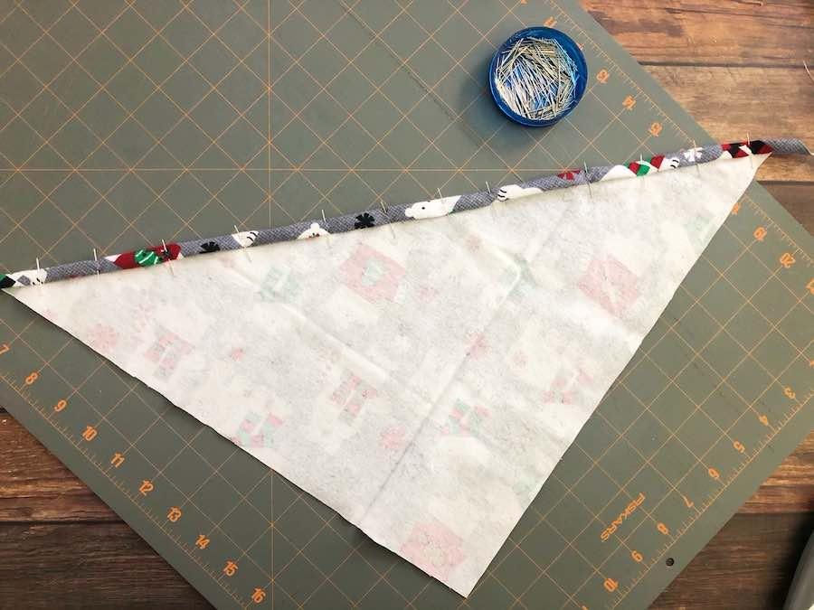 Folded Edge of bandana