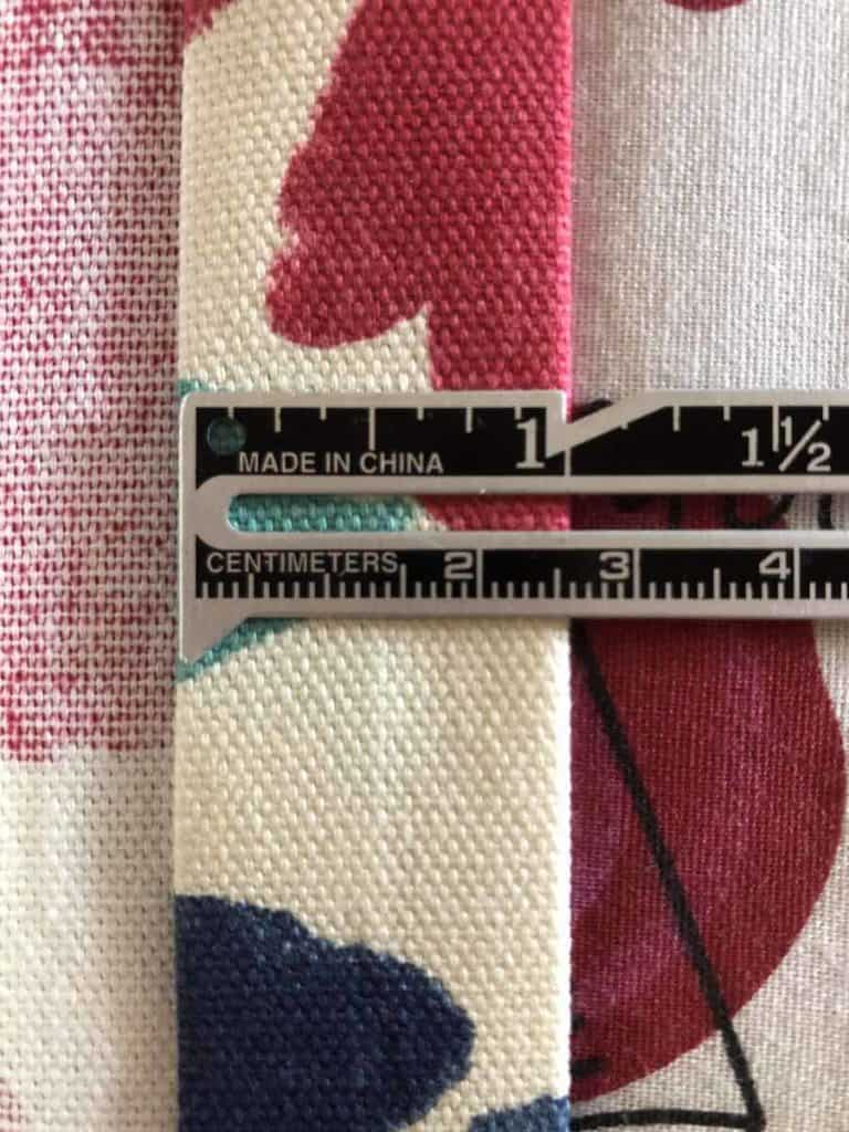 1 inch press of fabric