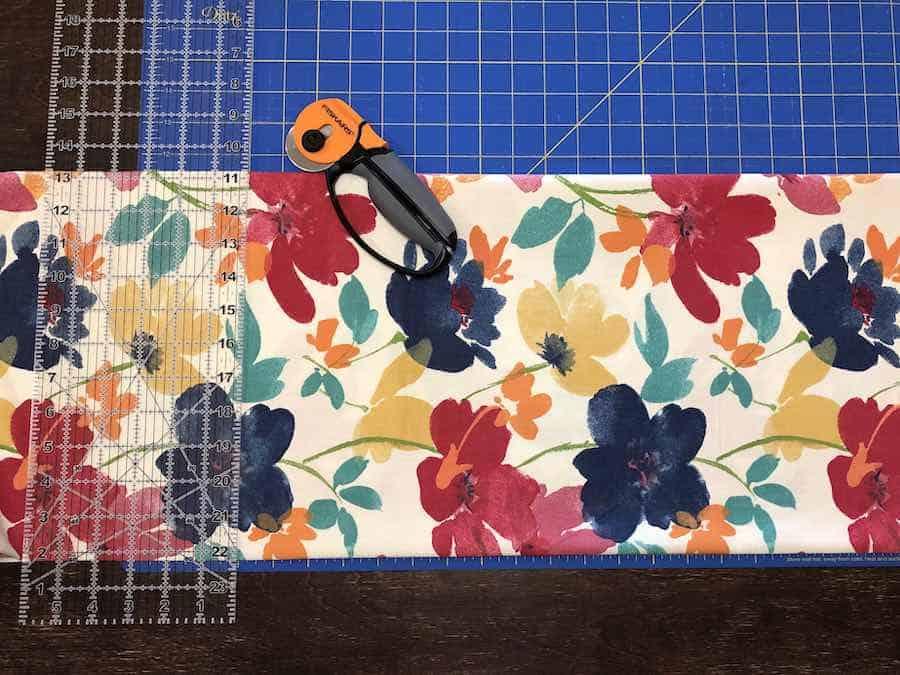 Cutting Grocery Bag Fabric