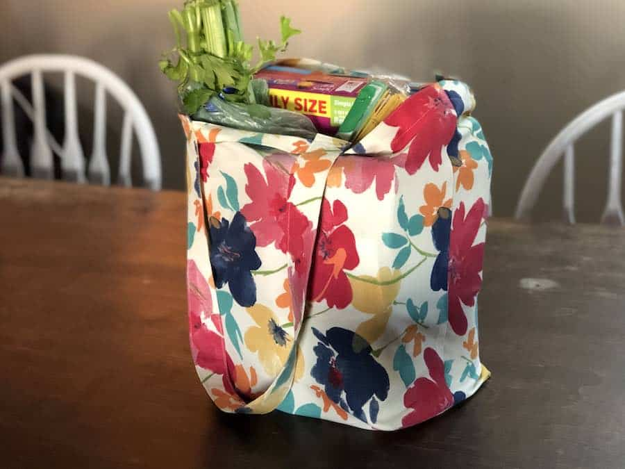 DIY Foldable Reusable Grocery Bags
