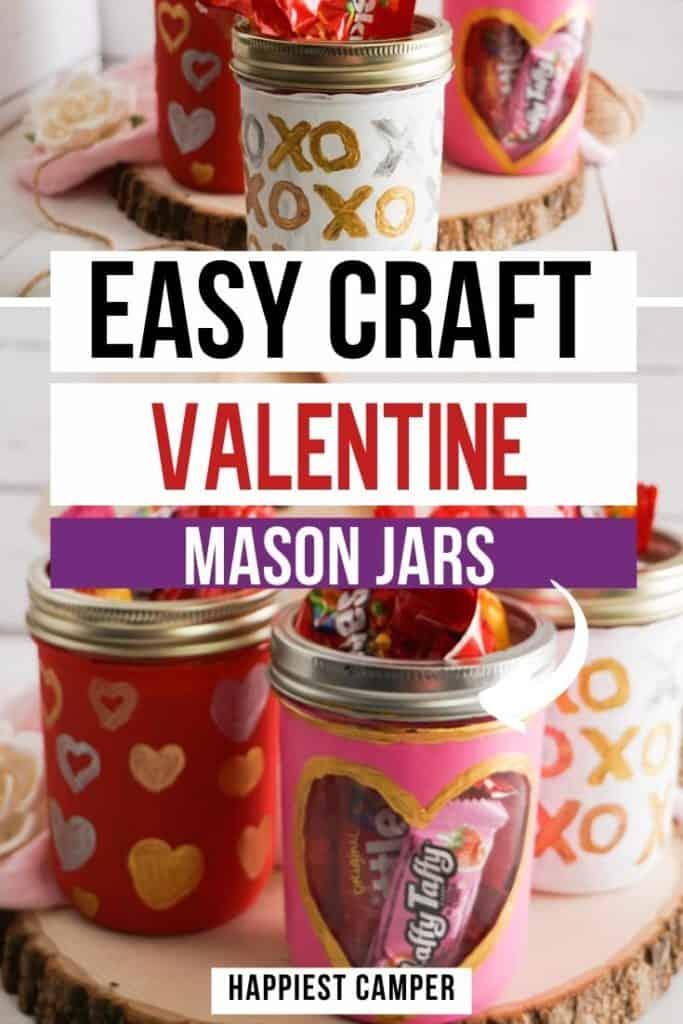 Easy Craft Valentine Mason Jars