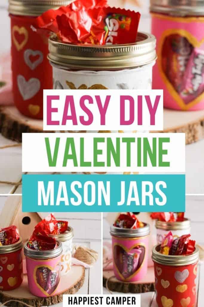 Easy DIY Valentine Mason Jars