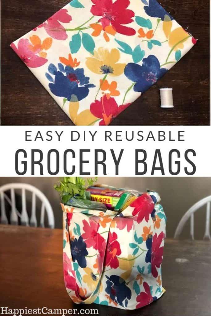 Easy DIY Reusable Grocery Bags