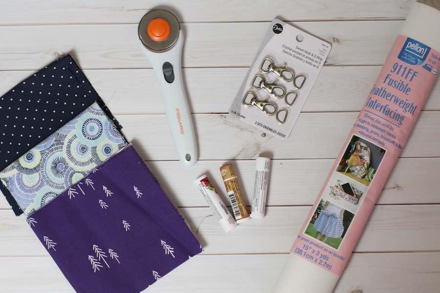 Supplies for Chapstick Holder Keychain