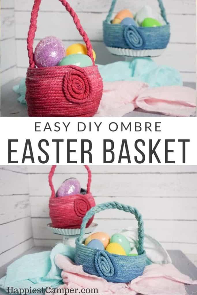 Easy DIY Ombre Easter Basket