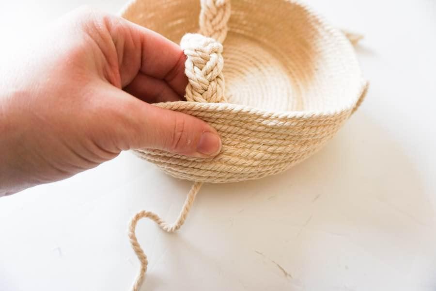 Hot Glue Handle on Basket