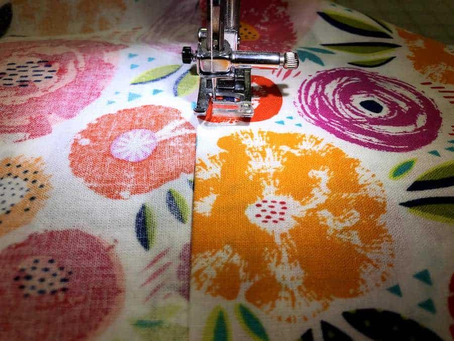 Sew folded edge
