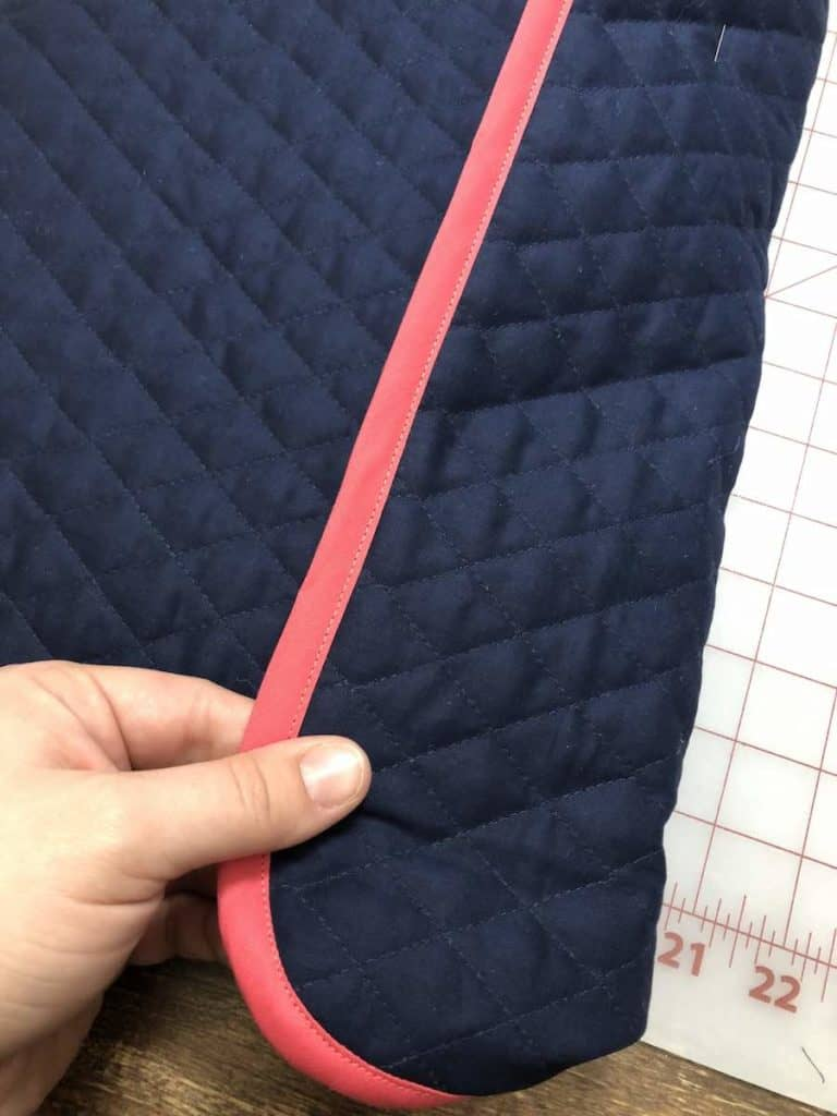 Take note of where the Velcro lines up