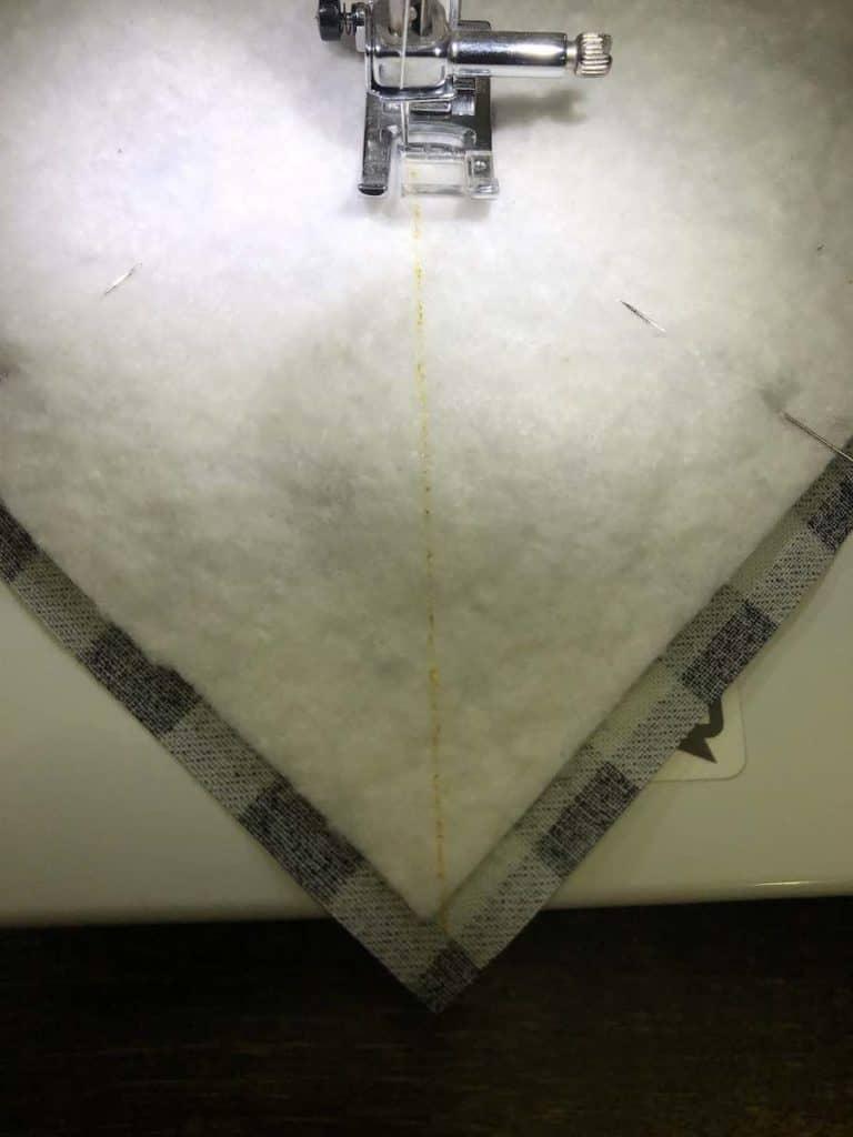 6 Stitch the lines you drew