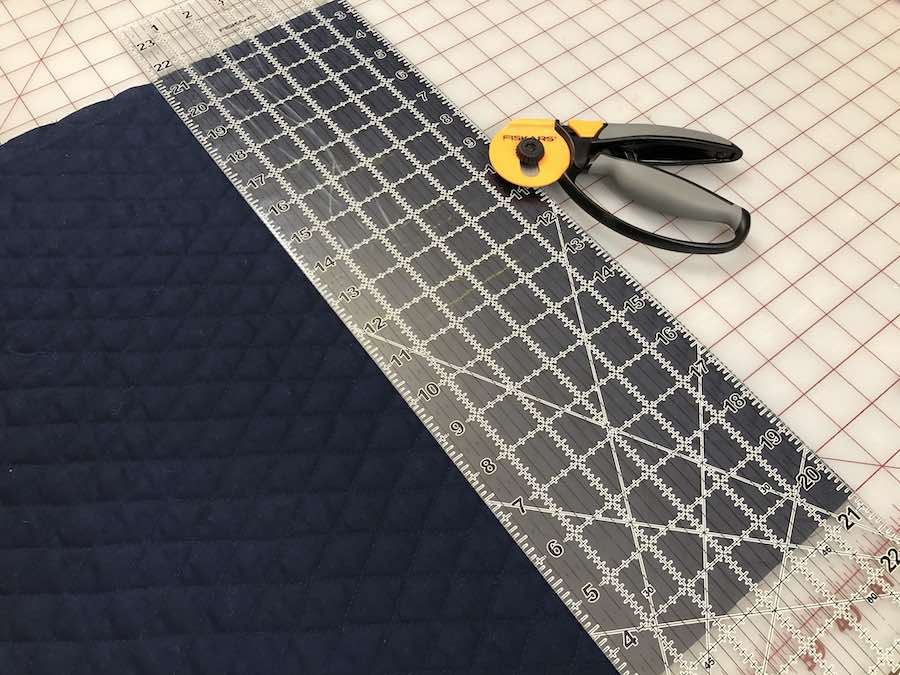 Measure the flap, cut off excess