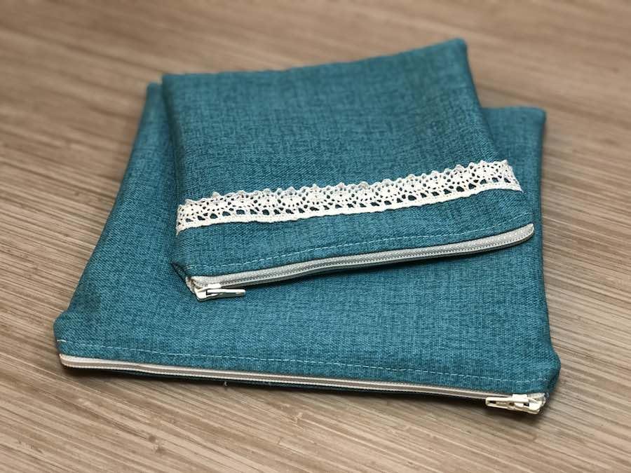 Final lined zipper pouch