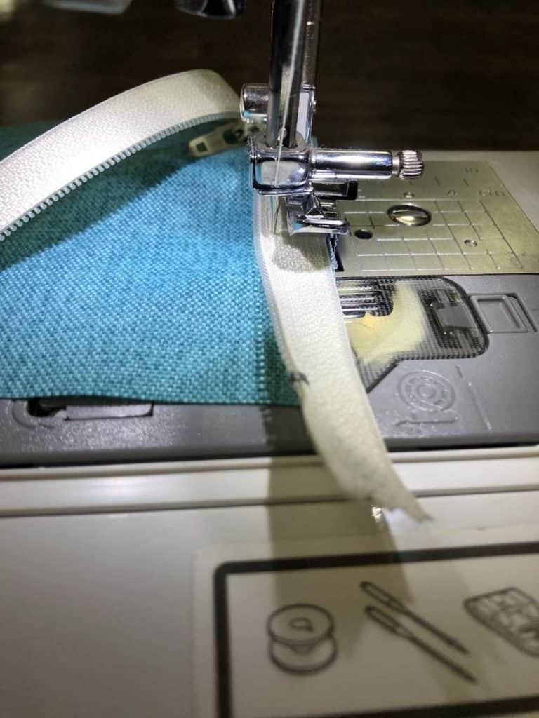 Finish sewing the zipper