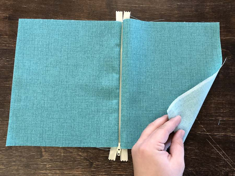8b Fold the right side over the left
