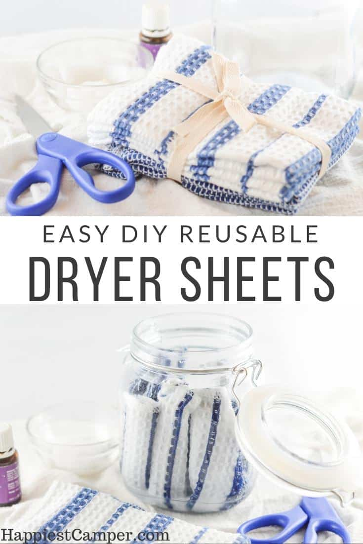 Easy DIY Reusable Dryer Sheets