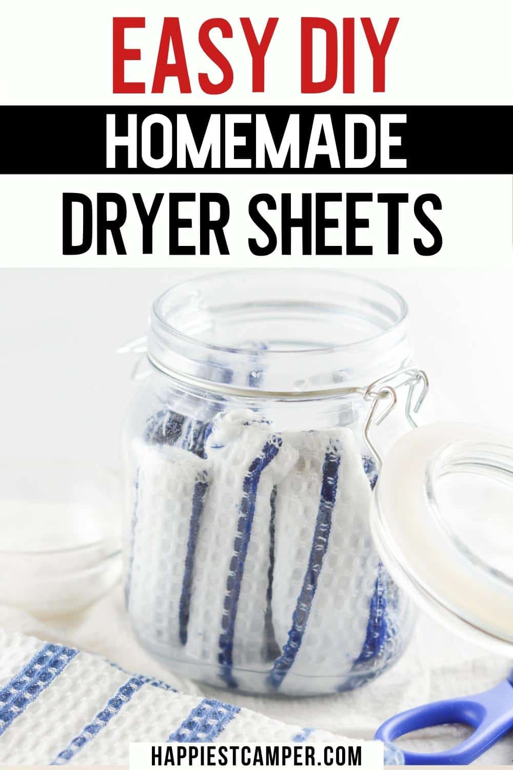 Easy DIY Homemade Dryer Sheets