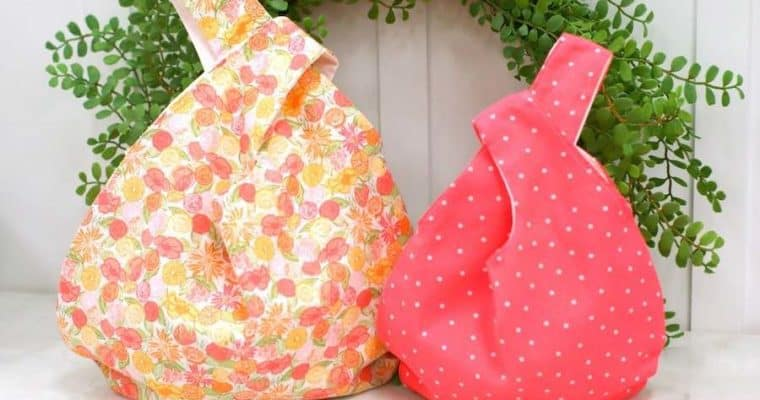 How to Sew a Japanese Knot Bag with Free Pattern