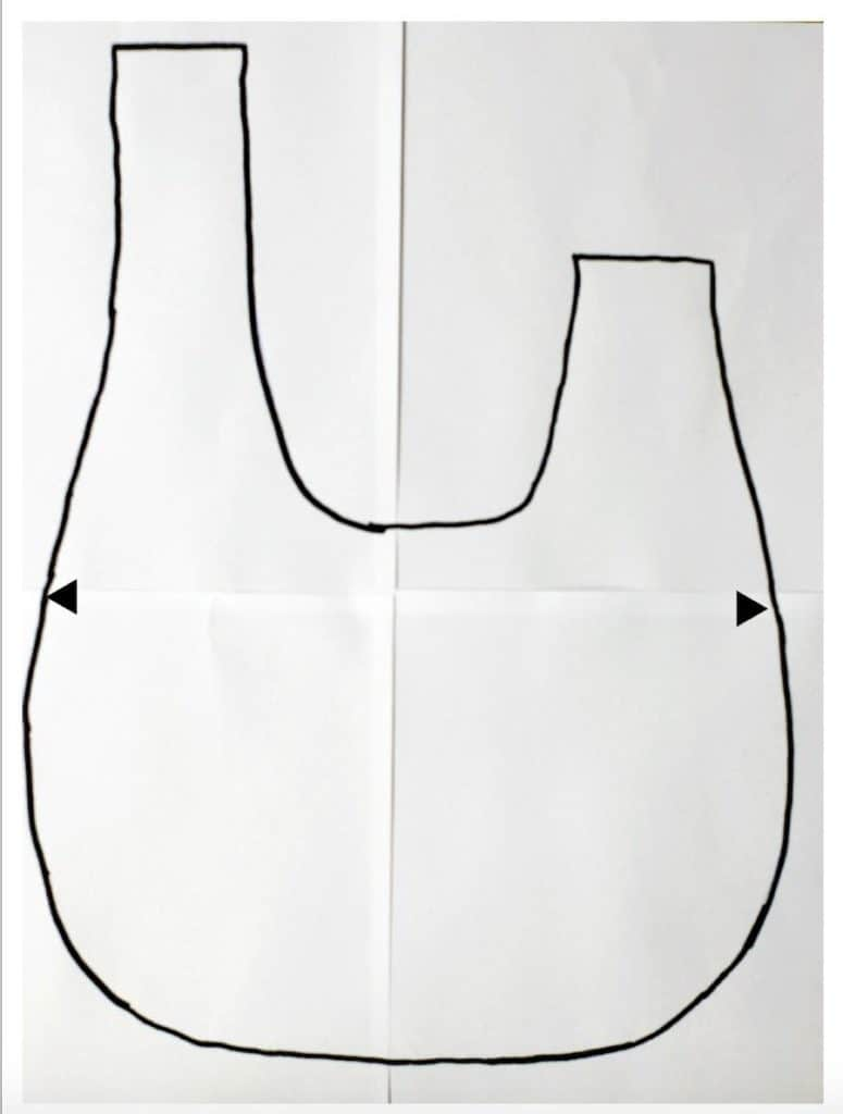 Japenese know bag pattern layout