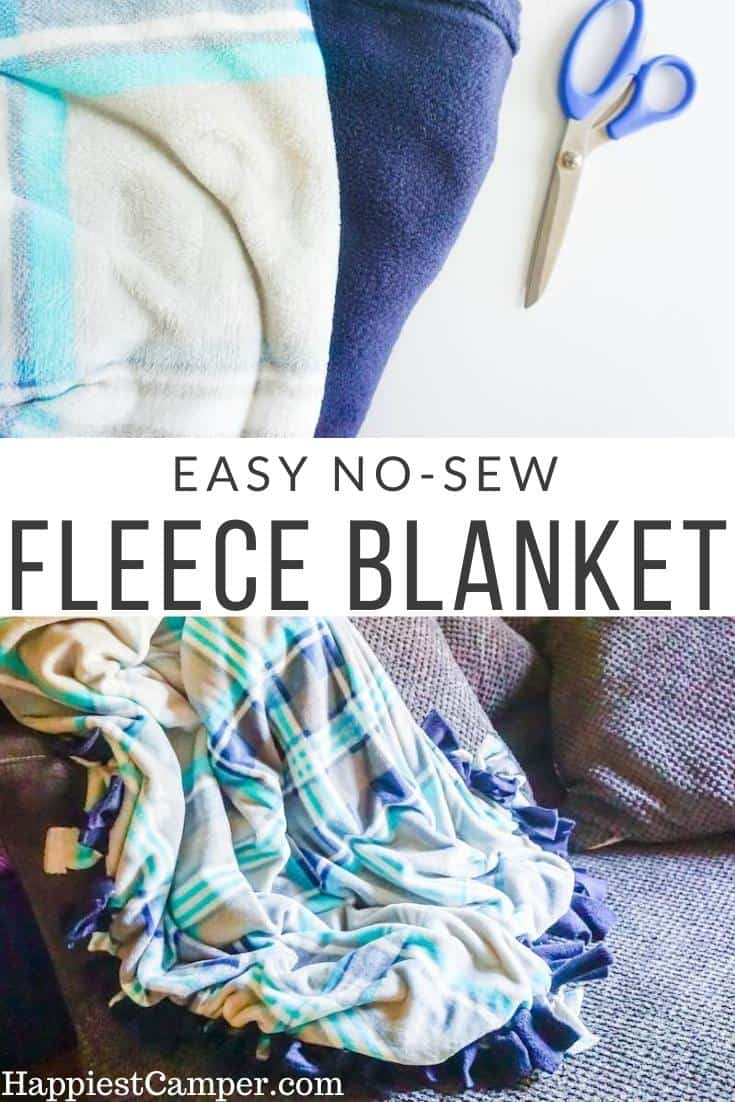 Easy No Sew Fleece Blanket