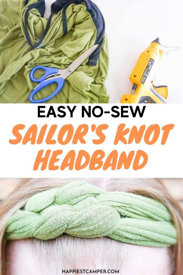 no-sew sailor's knot headband