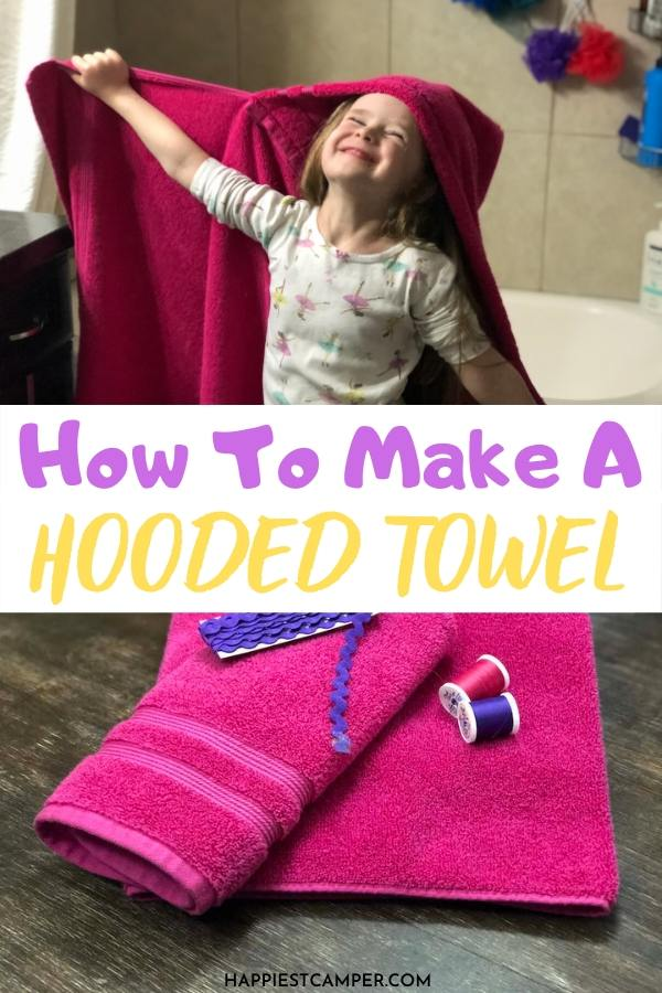 Kid's Finished hooded towel
