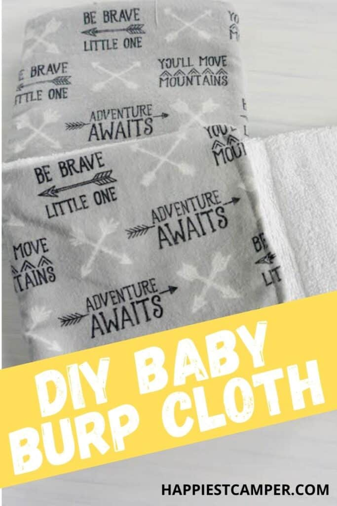 DIY Sew Baby Burp Cloth