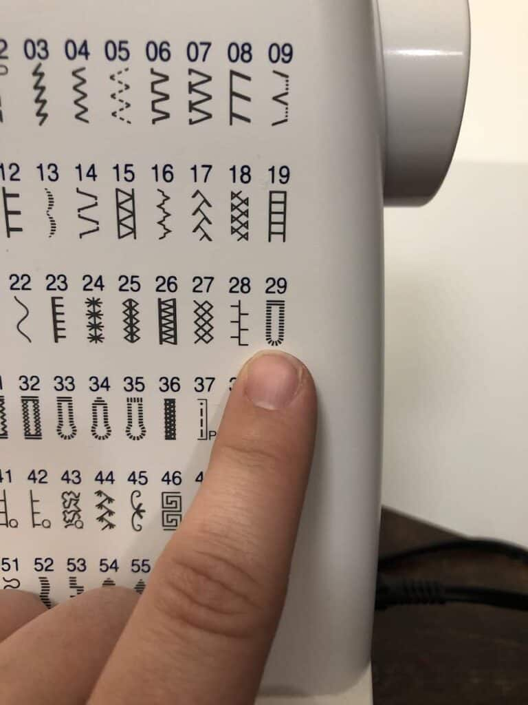 Locate the buttonhole stitch on your machine