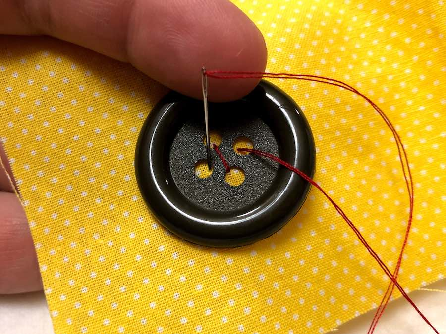 Step 5 sewing button