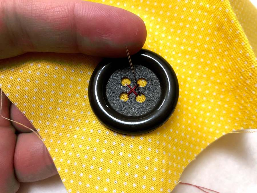 Step 7 sewing button