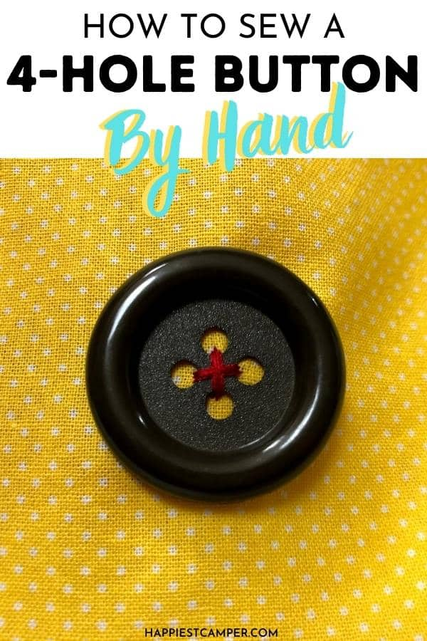 How To Sew A 4-Hole Button By Hand