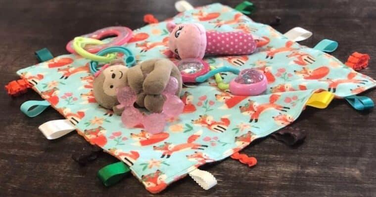 DIY Baby Tag Blanket