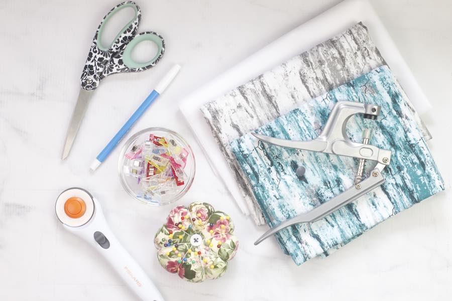 Supplies for DIY Messenger Bag