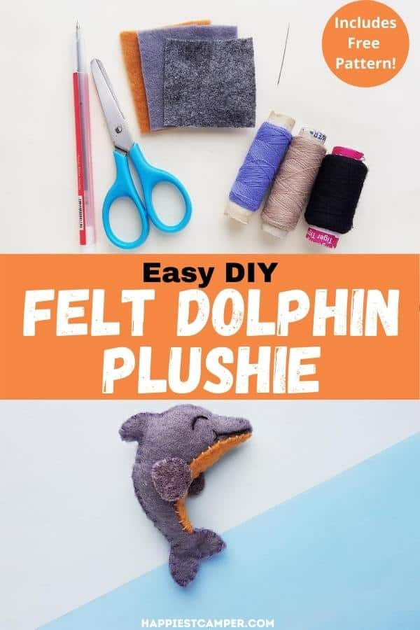 DIY Dolphin Felt with Free Pattern
