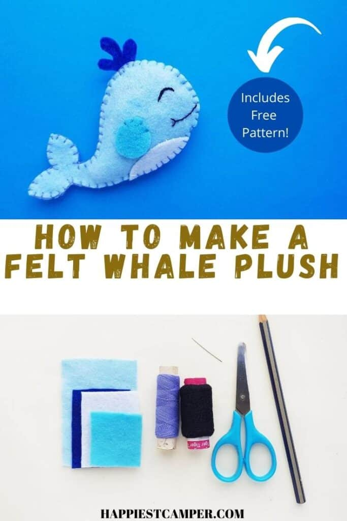 How To Make A Felt Whale with Free Pattern.