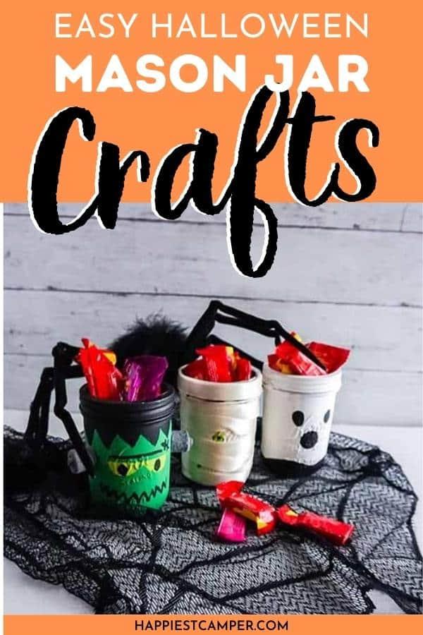 Easy Halloween Mason Jar Crafts.