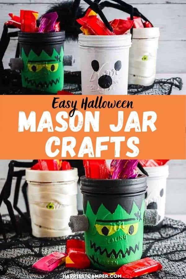 Easy Halloween Mason Jar Crafts