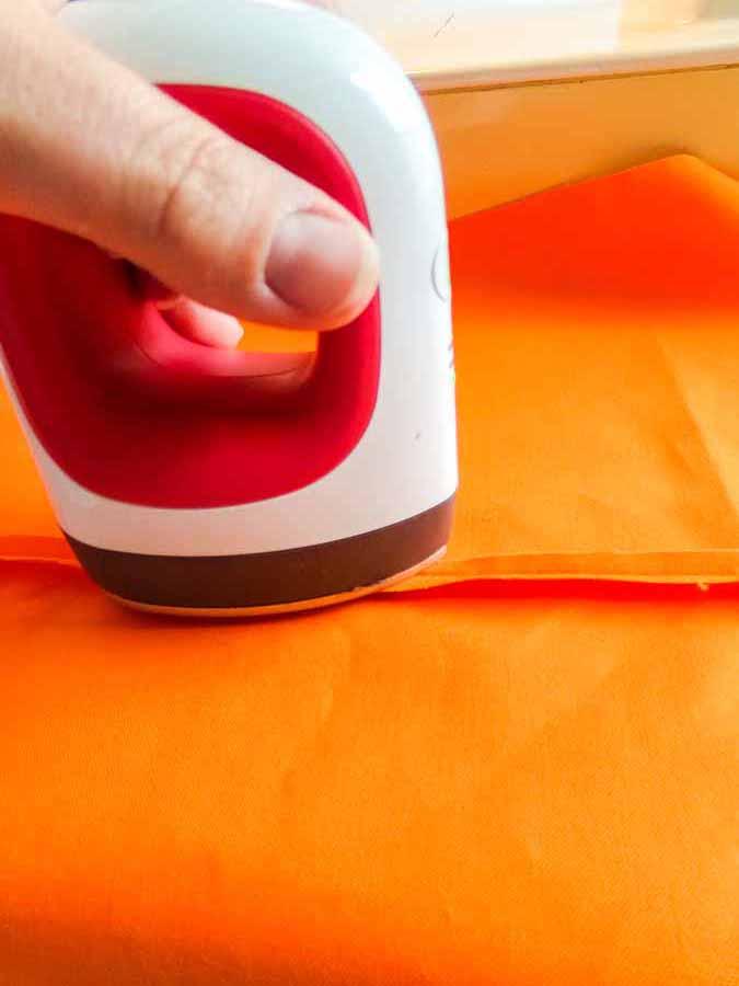 ironing seam flat